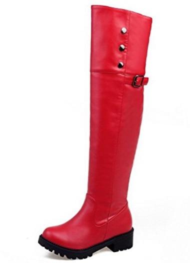 A botas mosqueteras rojas