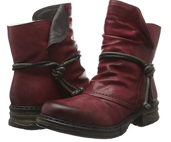 A botines rojos rieker
