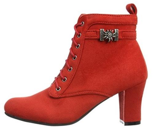 A rojo botines