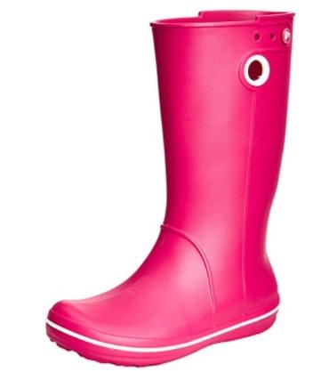 Botas de agua crocs rosas
