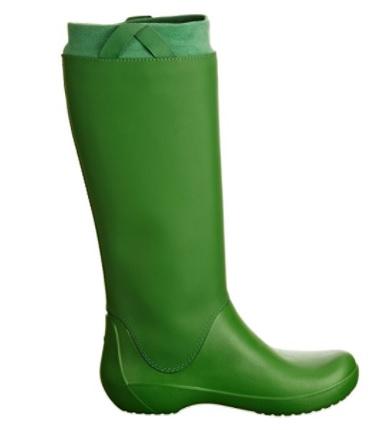 Botas de agua crocs verdes