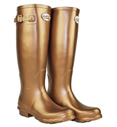 Botas de agua doradas