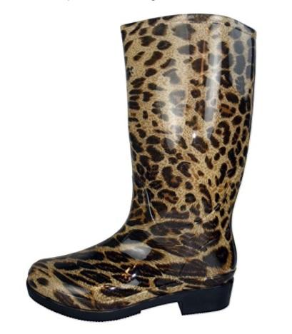 Botas de agua leopardo