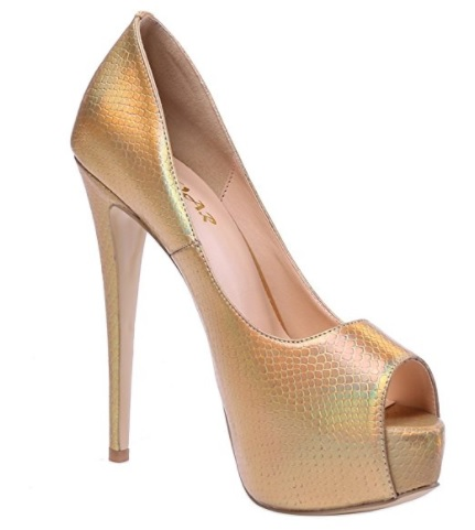 AOOAR - Plataforma Mujer dorado