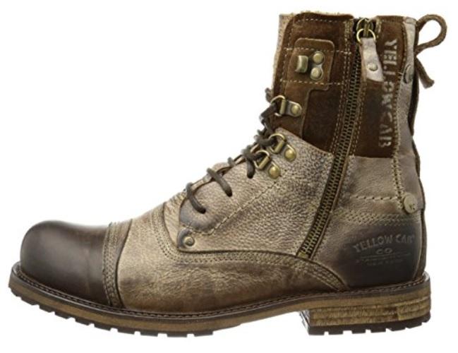 Botas militares cuero marrón