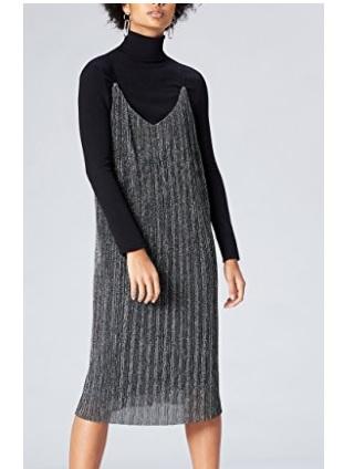 FIND Vestido Plisado de Tirantes