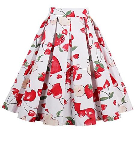 iShine falda larga mujer faldas cortas con 6 colores fresas