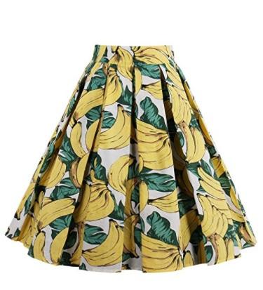 iShine falda larga mujer faldas cortas con 6 colores platanos