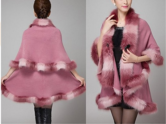 KAXIDY Elegante Mujer Abrigo de piel de Imitación Ropa de abrigo Chaquetas