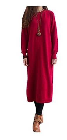 Youlee Mujeres Redondo Collar Largo Saltador Vestir
