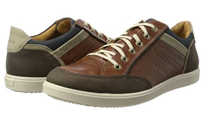 Zapato Oxford de cuero marrón