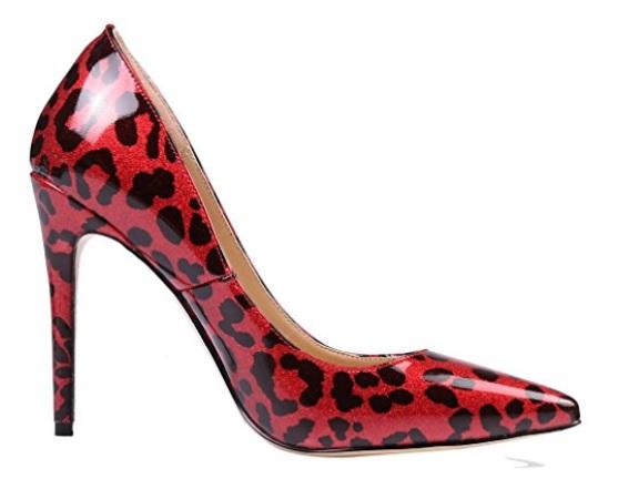 zapato rojo print