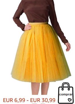 Falda midi 5 capas