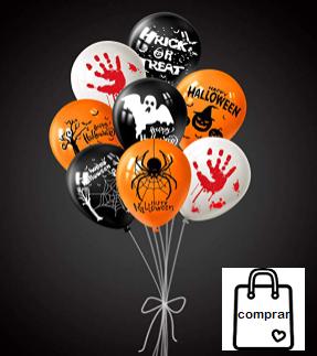 18 Piezas Globos de Halloween EUR 7,99