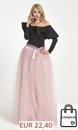 Falda larga 6 capas