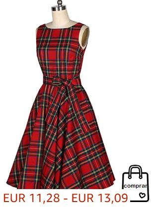 Vestido Sin Mangas De Tela Escocesa